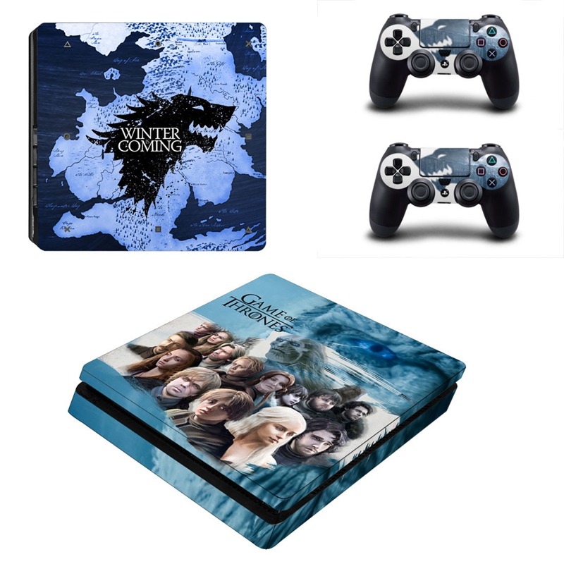 HOMEREALLY PS4 Slim Skin Custom Game of Thrones Sticker Cover For Playstation 4 Slim Console and Controller Skin PS4 Accessory