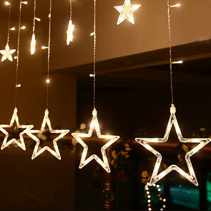 Strict Homixs 2m 138leds Romantic Fairy Star Led Curtain String Light Xmas Light For Holiday Wedding Garland Party Decoration Reasonable Price Led Lighting