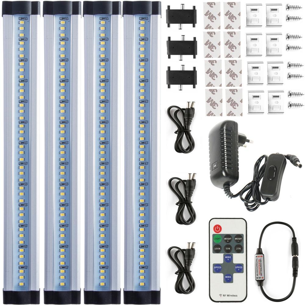 Led sous le cabinet lumière sans fil gradation cuisine lumière plug in kit 12 W lampes minces dur filaire Led linéaire salle de bain
