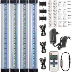 Led ضوء تحت الكابين اللاسلكية يعتم ضوء مطبخ التوصيل في عدة 12 W ضئيلة مصابيح الصلب السلكية Led الخطي الحمام
