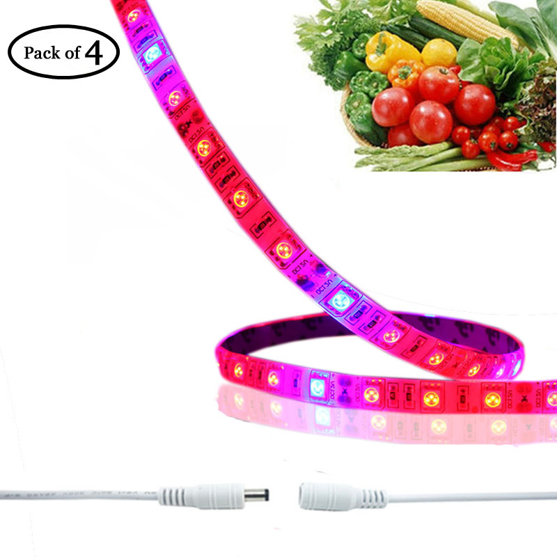 Vandtæt LED Grow Strip Strip 5050SMD Fleksibel LED Plant Growing Light-lampe til akvarium Drivhus Hydroponic Plant Grow
