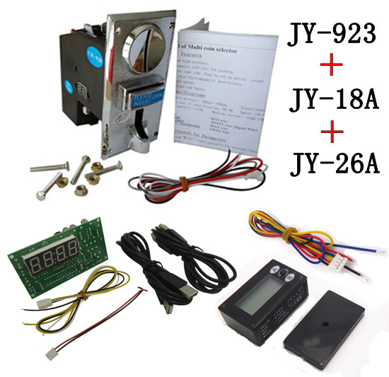 ФОТО 923+18A+26A coin operated USB time control device for cafe kiosk,multi coin selector acceptor with timer board counter