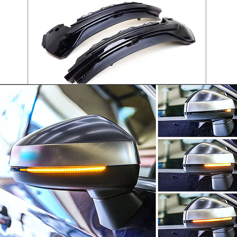 For AUDI A3 S3 8V 2013 2016 2017 Water Flowing Turn Signal LED Side Wing Rearview Mirror Indicator Blinker Repeater Light
