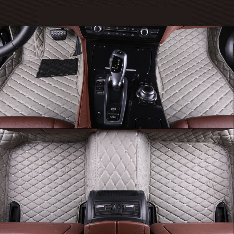 Auto Floor Mats For TOYOTA CAMRY 2012.2013.2014 Foot Carpets Car Step Mats High Quality Brand New Embroidery Leather Mats universal pu leather car seat covers for toyota corolla camry rav4 auris prius yalis avensis suv auto accessories car sticks