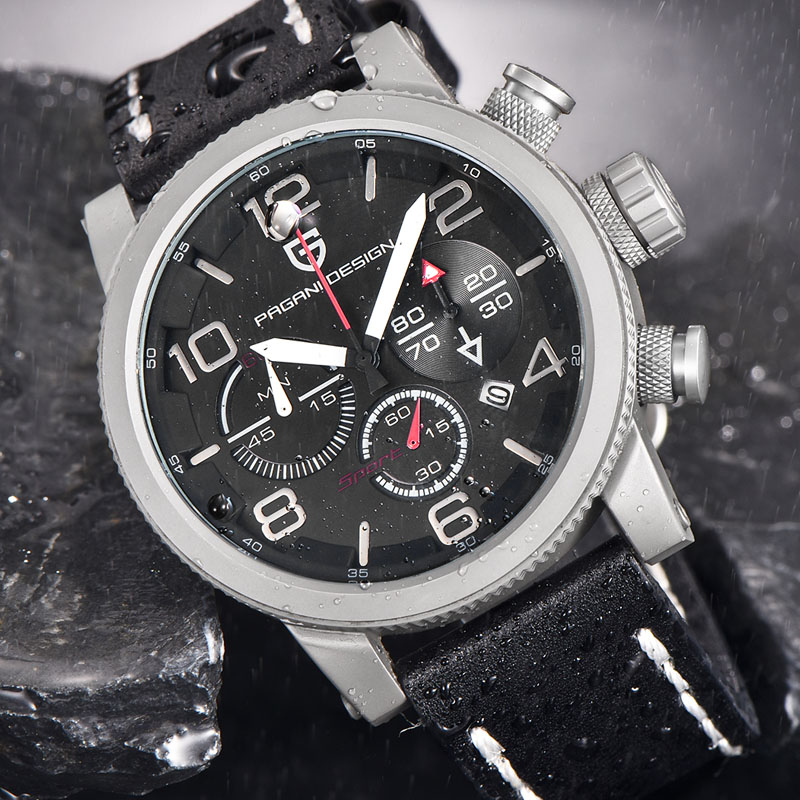 Relogio Masculino Pagani Design luxury brand 30m waterproof military watches men multi-function sports quartz watch reloj hombre luxury brand pagani design waterproof quartz watch army military leather watch clock sports men s watches relogios masculino
