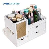 2017 New Upgrade Makeup Organizer PVC Waterproof Plastic Box Bathroom Rangement Cosmetic Organizador For Cosmetics Storage Tool