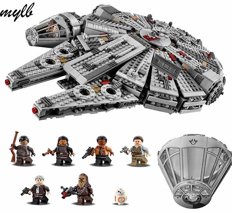 mylb Star Wars Millennium Falcon Outer Space Space Ship Building Blocks Model Toys Christmas Gift for Children Compatible