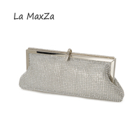 2017 neue Luxus handtasche frauen Entwickelt, um für abend silber Diamanten Kette Haspe Kupplung blink Jahrestagsfeier umhängetasche