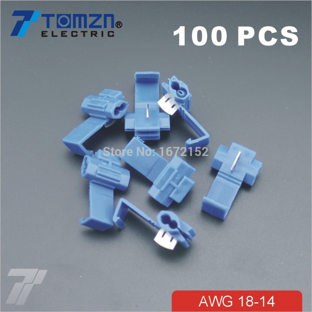100 Pcs Wire  Terminals Quick Wiring Connector Cable Clamp AWG 18-14
