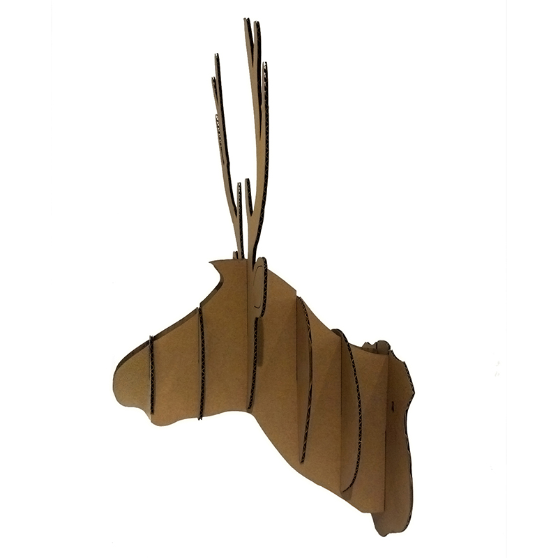 cardboard deer mount template puzzle reindeer head wall animal decoration hanging ornament cute cardboard deer heads mount template