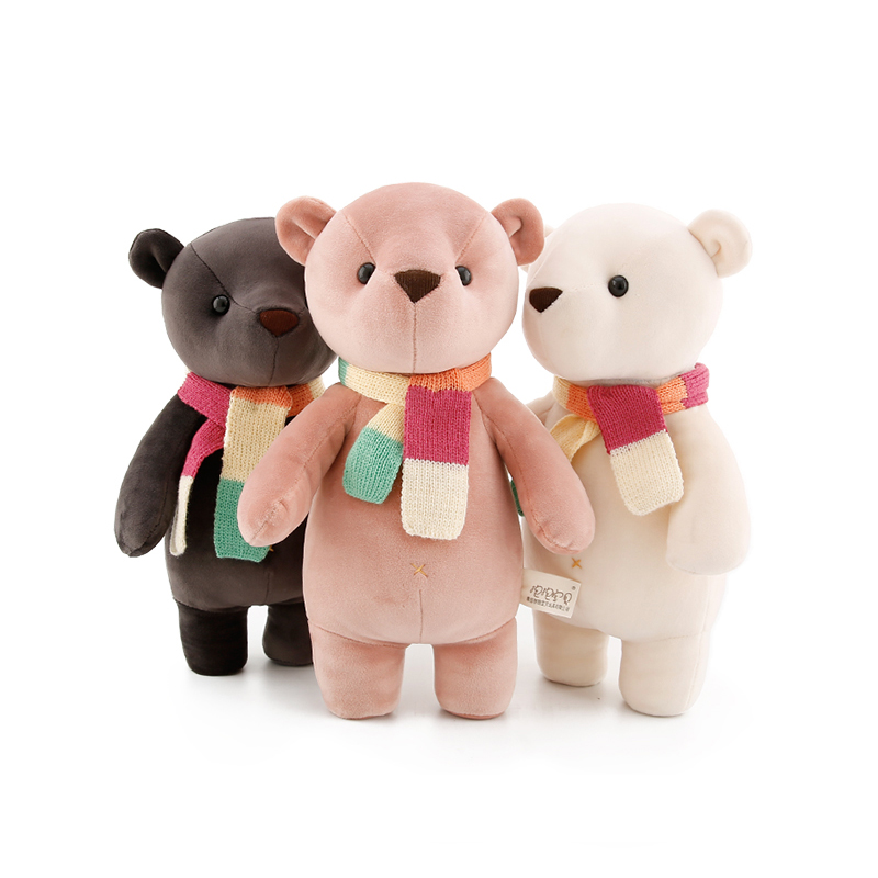 35cm Kawaii Teddy bear soft plush kids toys for children baby girls stuffed dolls gifts 68cm kawaii bull terrier dog plush kids toy emoji sleeping pillow toy cute soft baby toys stuffed dolls for children girl gifts