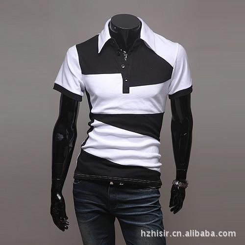 Camisa Polo Mens Marcas de 2018 do Sexo Masculino de Manga Curta Moda  Casual Magro Cor Feitiço Personalidade Polos Homens Jerseys em Polo de Dos  homens de ... 11506eb775bbb