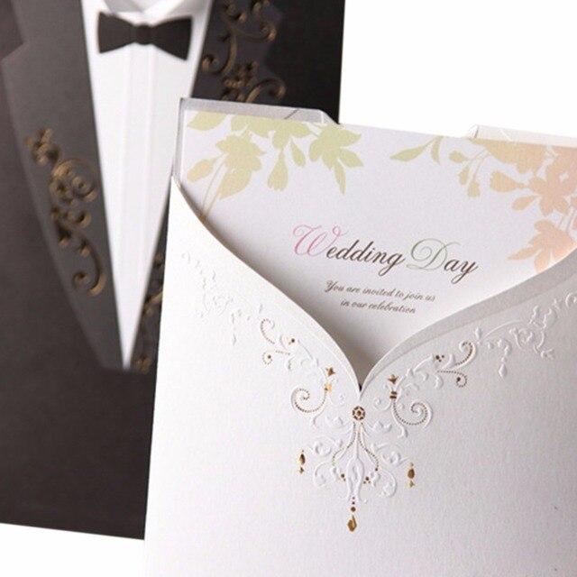10 pcs/pack Wedding Paper Set Tuxedo Smoking Card Stickers Envelope
