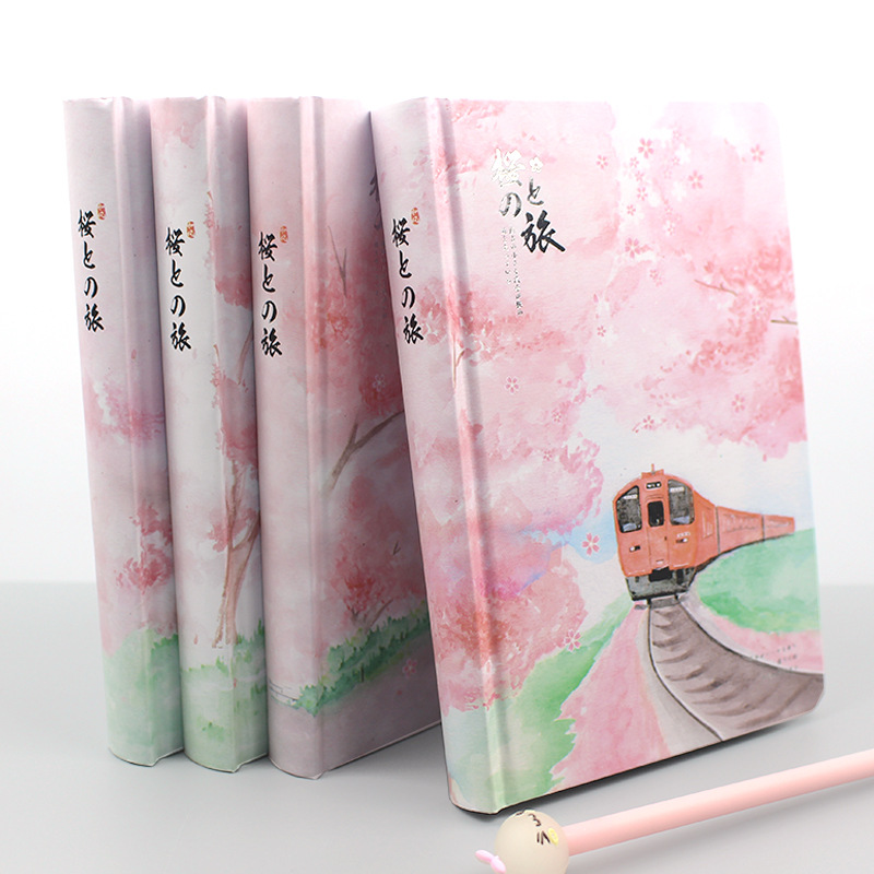 JIANWU Sakura Girl Notebook Color Inner Page Planner Diy Diary Bullet Journal Stationery Scool Office Supplies Kawaii