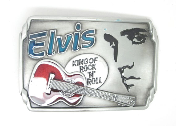 Elvis Rock N Roll Music Belt Buckle