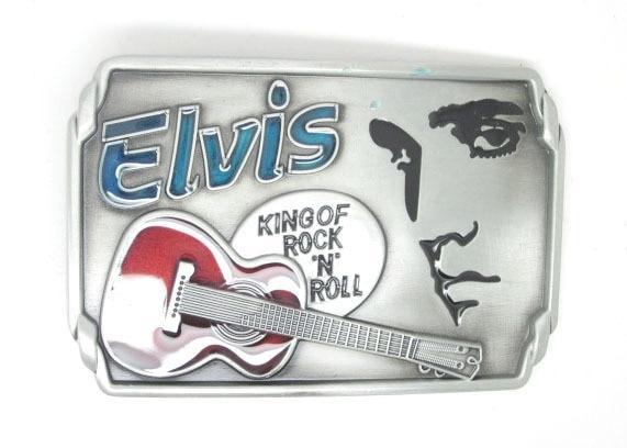 Elvis Rock N Roll Music Belt Buckle