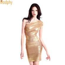 Sexy Gold Foil Dress