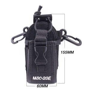 Image 4 - 2 pçs abbree MSC 20E portátil walkie talkie náilon caso capa handsfree titular para baofeng UV XR UV 9R tyt woxun motorola rádio