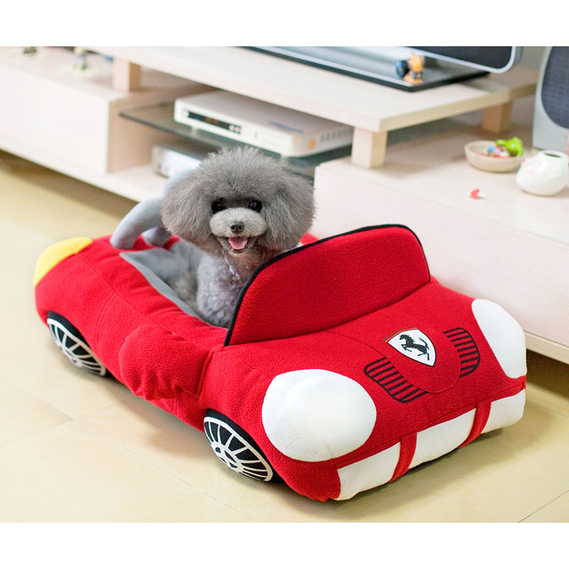 Cool sports car shaped pet dog bed house chihuahua for Dog haus dog beds