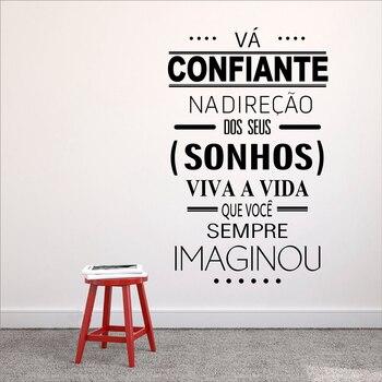 Portugiesisch Version Gehen Getrost In Die Richtung Von Ihre Traume
