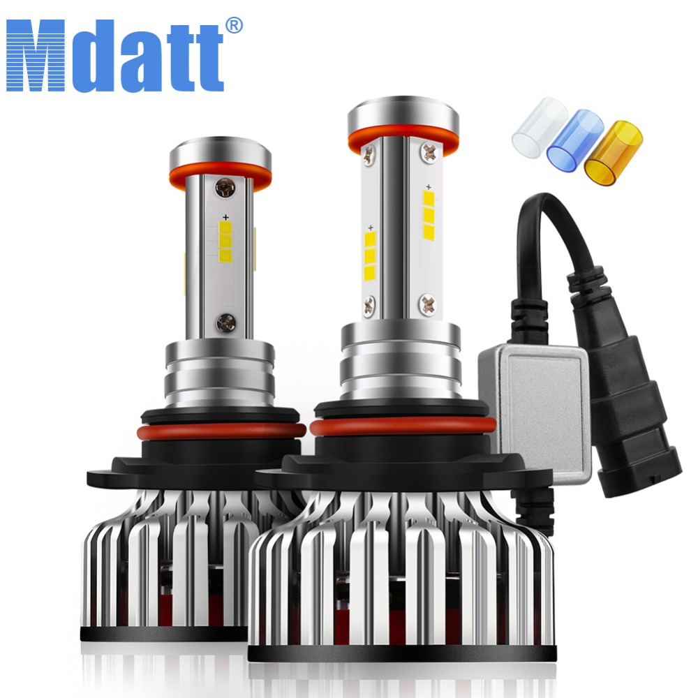 Mdatt Car <font><b>LED</b></font> <font><b>Headlight</b></font> Bulb H7 <font><b>H4</b></font> H11 Auto <font><b>LED</b></font> Lamp CSP Car Light Canbus 12000Lm <font><b>100W</b></font> H1 9005 9006 3000K 6000K 8000K 12V 24V image