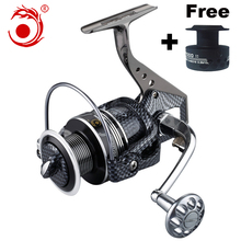Dubbele Spool Spinning reel Metal body Mix slepen 15 kg/32lb Super sterkte 12BB 5.5: 1 vissen reel Zoutwater Staaf Combo(China)