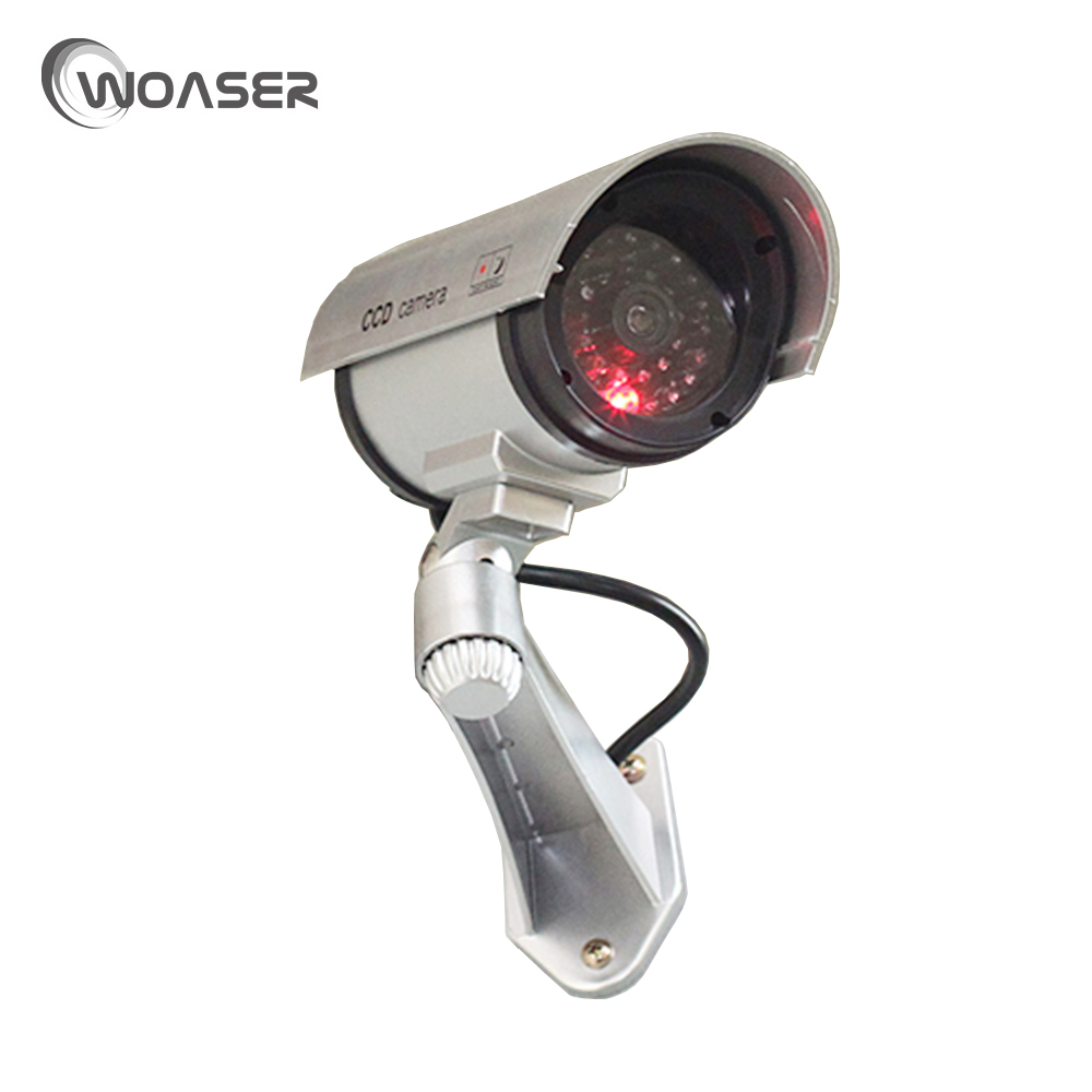 woaser value dummy cctv camera flash blinking led fake camera security simulated video. Black Bedroom Furniture Sets. Home Design Ideas