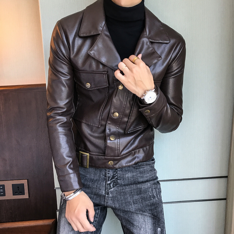 кожаные куртки мужские коричневые 3