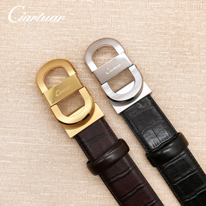 Image 2 - 2020 ciartuar official store luxury new fashion designer men belt high quality genuine leather cowskin for trouser free shipping