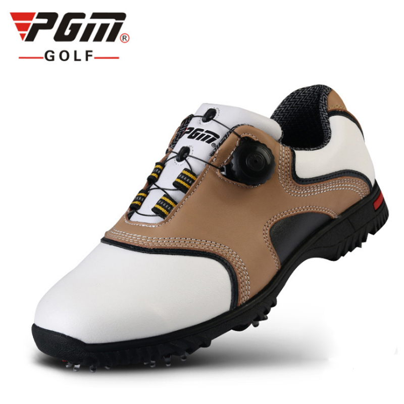 PGM Leather Golf Shoes For Men Breathable PU Sneaker Outdoor Men Sport Golf Shoes Hombre Golf Shoes Chaussure Sapatos De Golfe pgm men golf shoes breathable athletic sneaker plus size 39 46 mesh sport shoes pu waterproof professional golf shoes for men