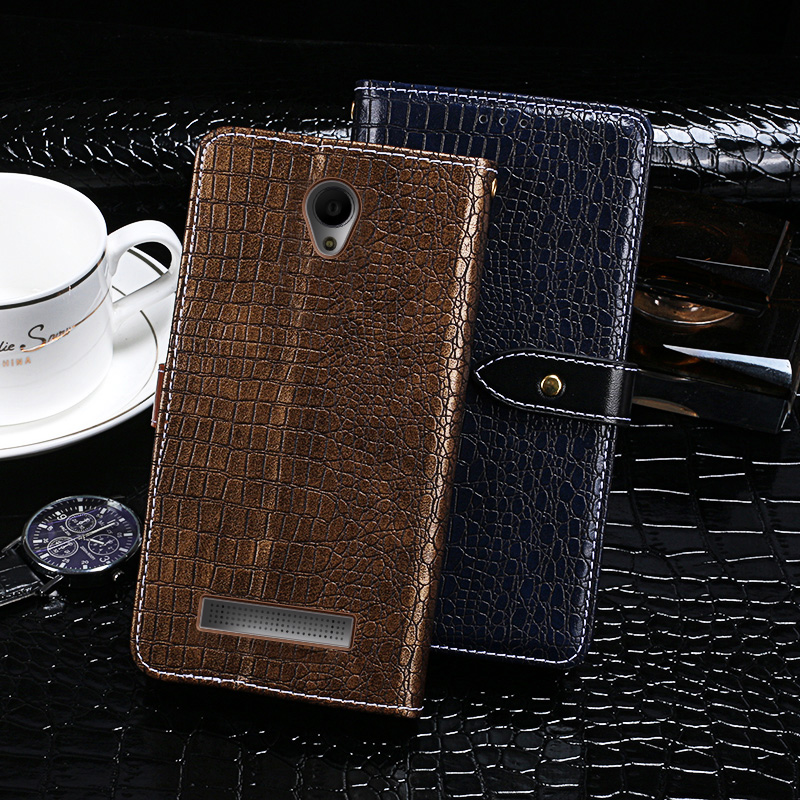 Case For Fly IQ4415 Case Cover Crocodile Grain Flip Leather Case For Fly IQ4415 Era Style 3 Cover Business Phone Case