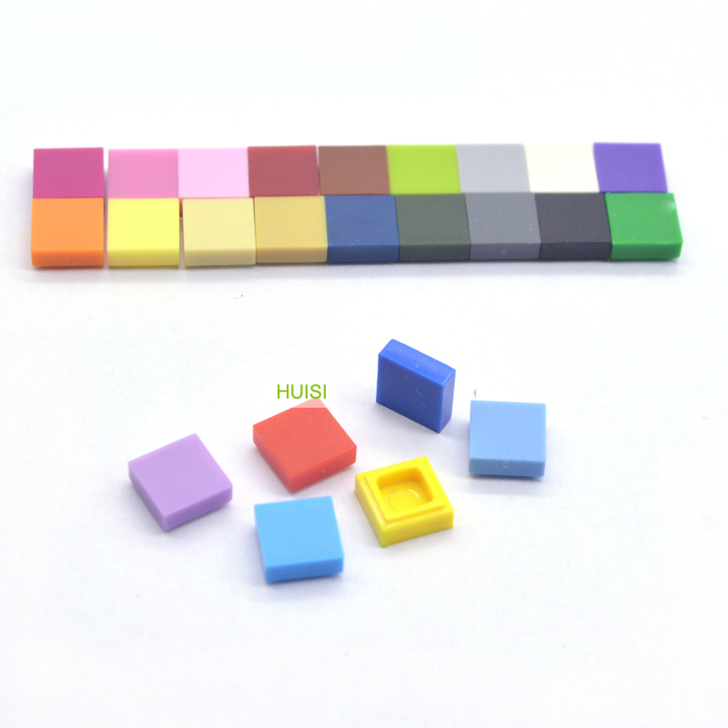 Совместим с Legoe штук 1x1 плитки Buidling DIY игрушки Blcoks гладкая отделка плитка плоский кирпич части модульная сборка детские игрушки