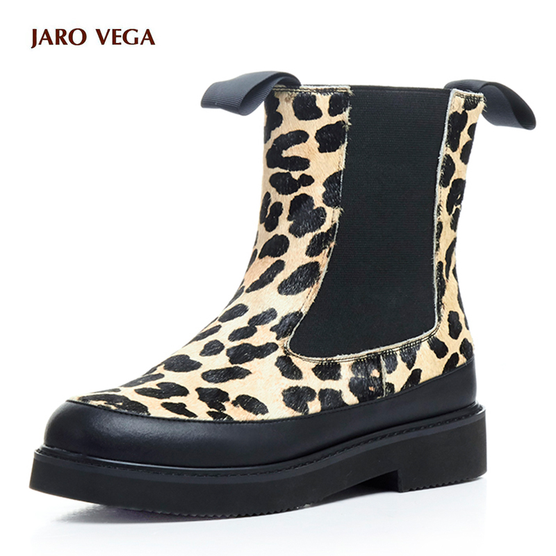 2017 New fashion women winter brand shoes round toe horse hair leopard grain mid-calf boots low-heel sexy chelsea platform boots new arrival 2016 winter keep warm women boots low heel round toe platform shoes solid genuine leather mid calf boots