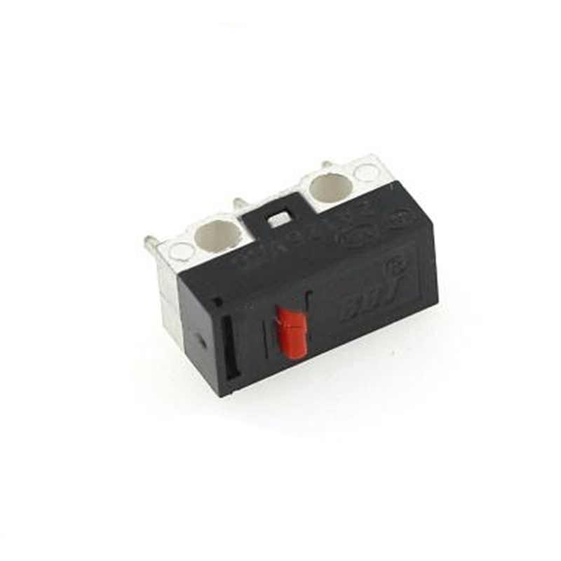 20 unids/lote Micro interruptor de botón de empuje 3 Pin 1A 125 V CA Mini Interruptor táctil de la luz para el ratón