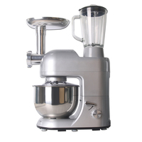 GZZT New Multifuntion Food Mixer Juicer Blender Sausage Stuffers Noodles Egg Mixer 5.2L Mixing Bowl Glass Cup Food Processors