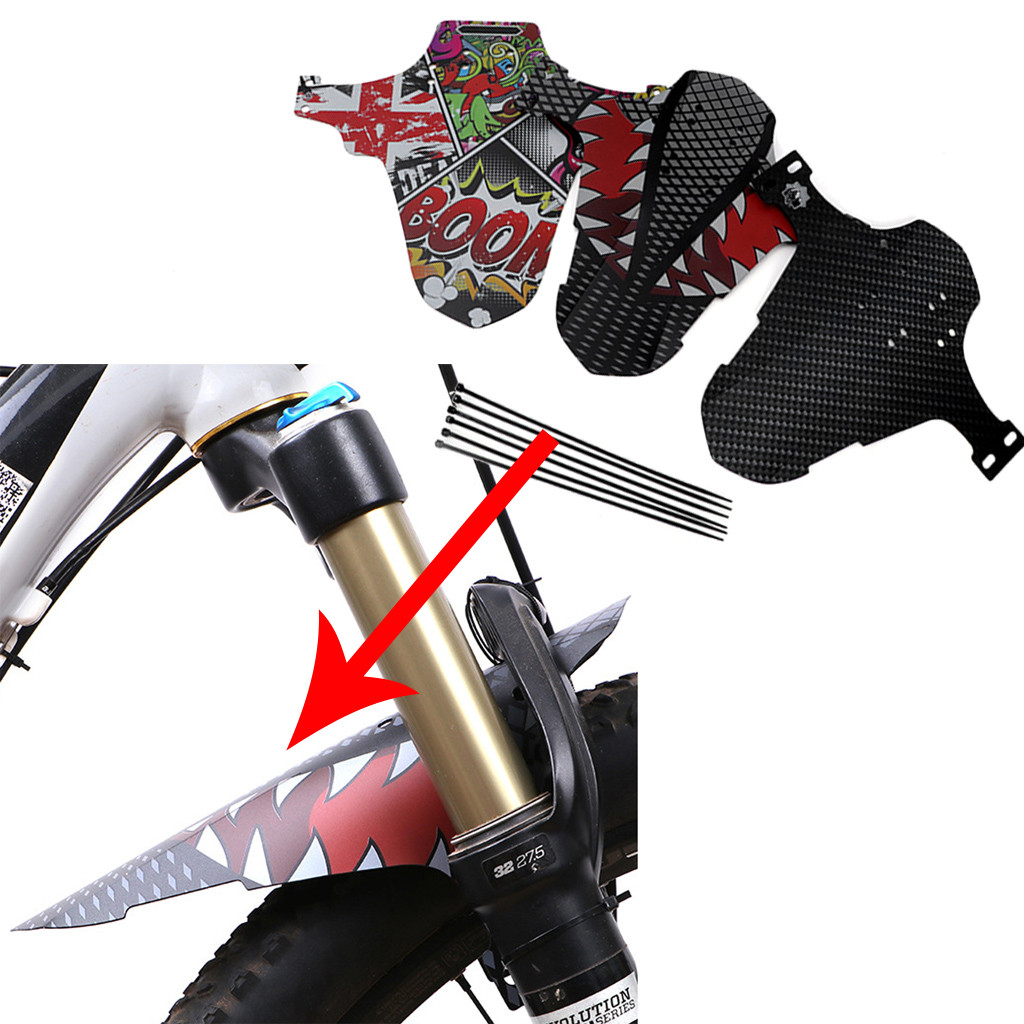 2 Pairs Bicycle Lightest MTB Mud Guards Tire Tyre Mudguard For Bike Fenders Fron