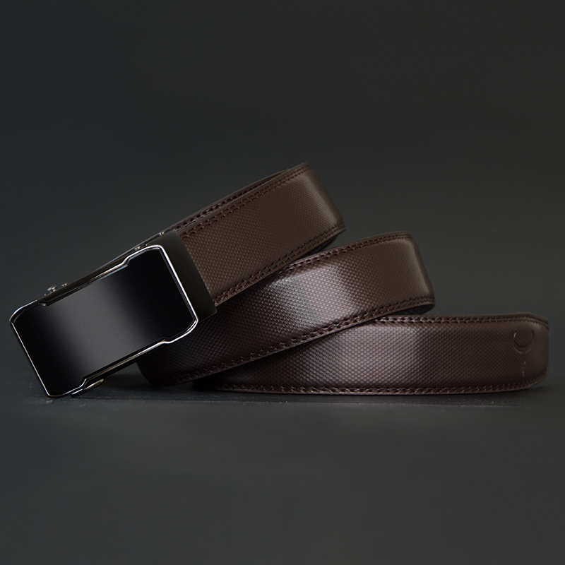 Image 4 - COWATHER Cow Genuine Leather Belt Top Quality Alloy Buckle Men Belts Automatic Buckle Cowhide Male Strap Black Brown Straps-in Men's Belts from Apparel Accessories on AliExpress