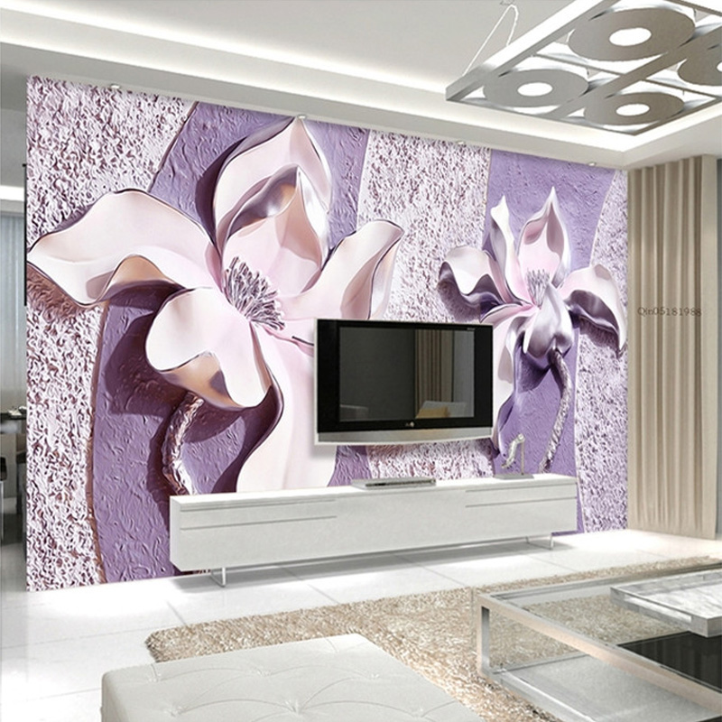 FATMAN Custom 3D Photo Wall Paper Beautiful Flower Pattern Home Decor For Bedroom Living Room Wallpaper Papel De Parede large photo wallpaper bridge over sea blue sky 3d room modern wall paper for walls 3d livingroom mural rolls papel de parede