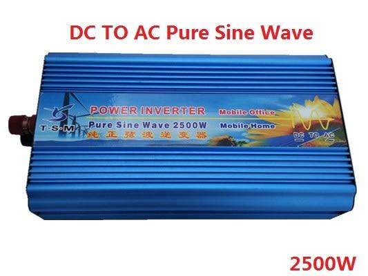 2500W 12V DC input to 120/220/230/240V AC output Digital Display Pure Sine wave Solar Inverter 50Hz Or 60Hz Off Grid Inverter solar power on grid tie mini 300w inverter with mppt funciton dc 10 8 30v input to ac output no extra shipping fee