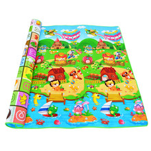 Baby Crawling Mat 0.5cm Thickness Play Carpet Soft Eva Foam Gym Game Rugs Children Double Side Playmat Dinosaur Car Letter Farm(China)