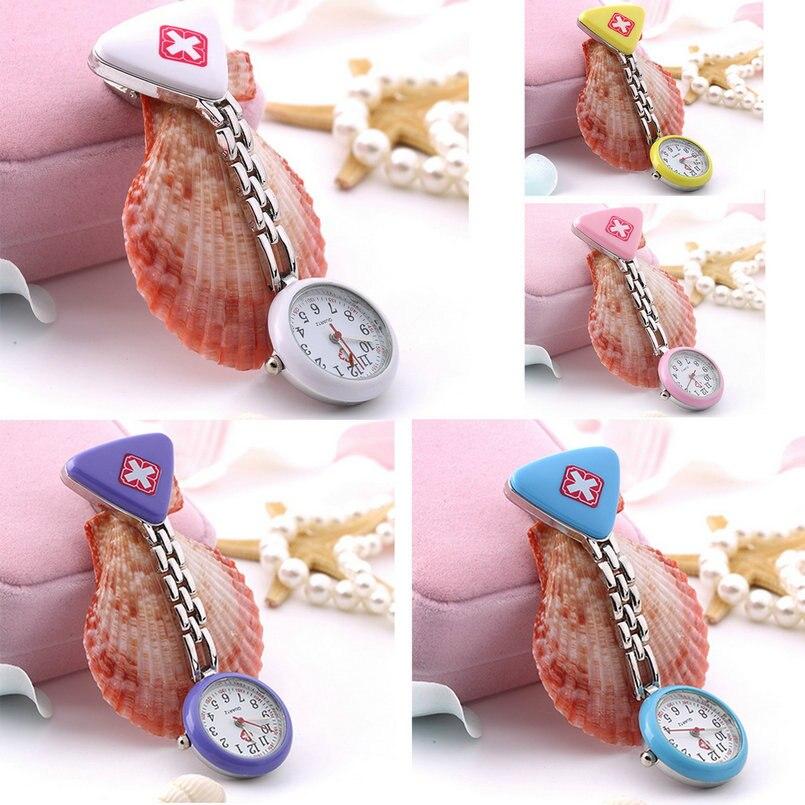 Nurse Doctor Pendant Pocket Clip Quartz Brooch Nurses Watch Fob Hanging watch Medical reloj de bolsillo 5 Colors available