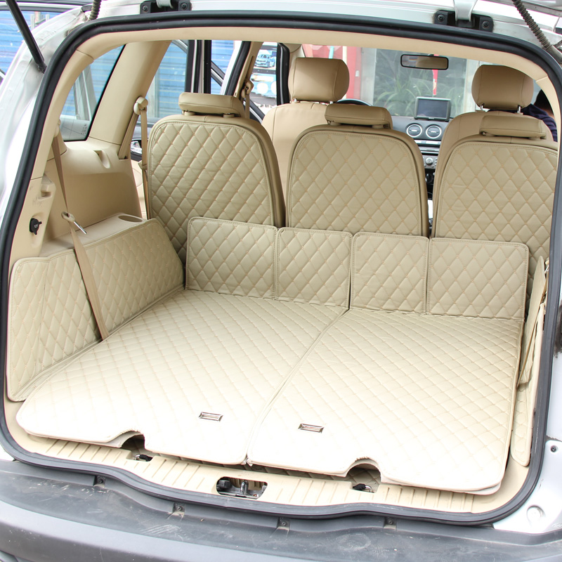 lsrtw2017 for ford s max leather cargo liner car trunk mat 2006 2007 2008 2009 2010 2011 2012 2013 2014 2015 accessories - title=