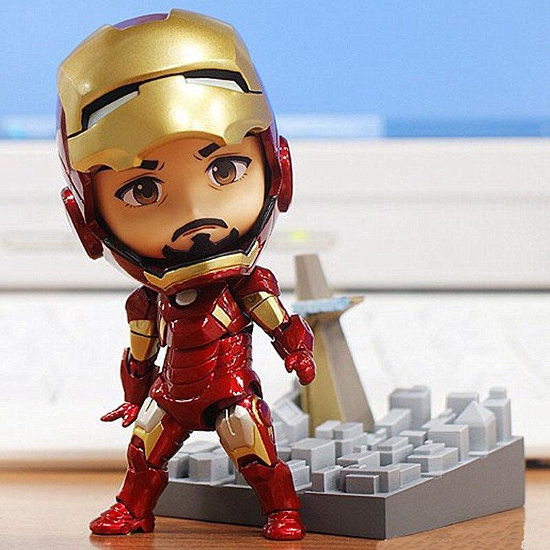 Hot <font><b>Sale</b></font> <font><b>Avengers</b></font> Iron man Action <font><b>Figures</b></font> New <font><b>Toys</b></font> For Kids 10 CM PVC Marvel <font><b>Avengers</b></font> <font><b>Super</b></font> <font><b>Hero</b></font> <font><b>Figures</b></font> Children Gift