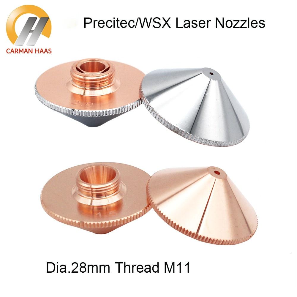 Laser Nozzle Precitec WSX Han's Nozzles Single/Double Layer Dia.28mm H15 M11 Caliber 0.8-4.0mm