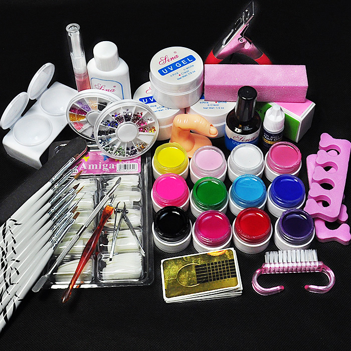 New 12 Pure Color Nail Art UV Gel Solid Extension Form Manicure set nail kits sets nail art tools uv gel set блуза marina yachting b1 028 58626 00 65023 092