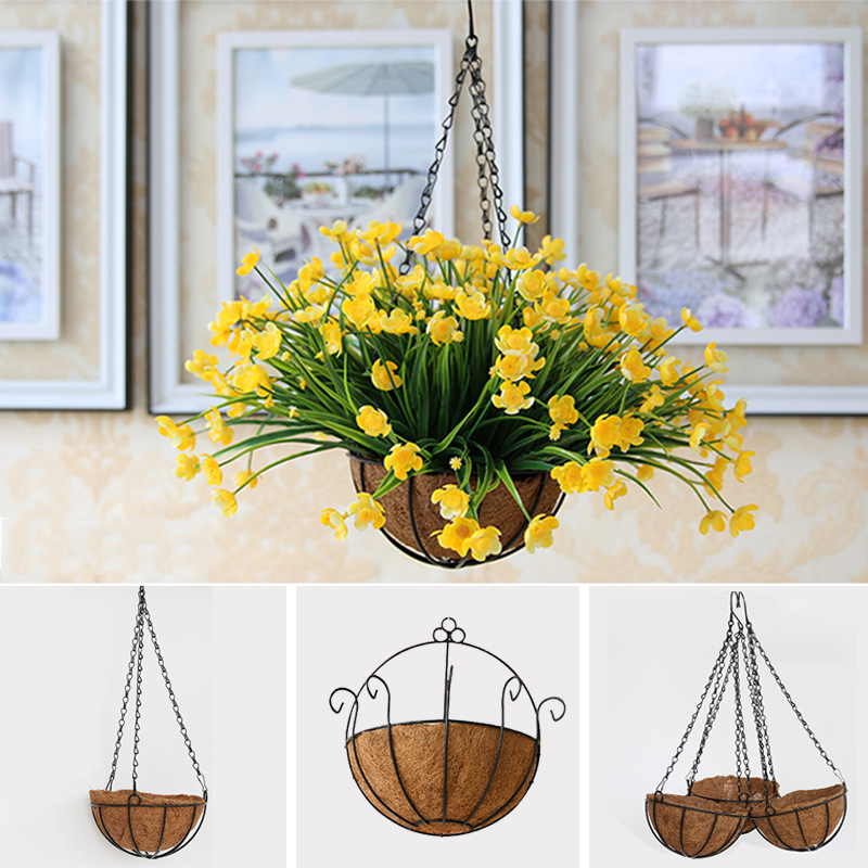 Hanging Basket On Fence: Aliexpress.com : Buy Wall Hanging Basket Artificial
