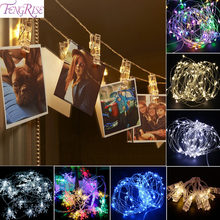 FENGRISE 10pc Photo Clip Led Lights Wedding Decoration Christmas Party Decorations Celebrations Wedding Events Party Home Decor(China)
