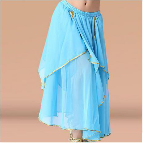 Belly Dance Costumes Senior Sexy Chiffon Gold Side Belly Dance Skirt For Women Belly Dancing Clothes Skirt