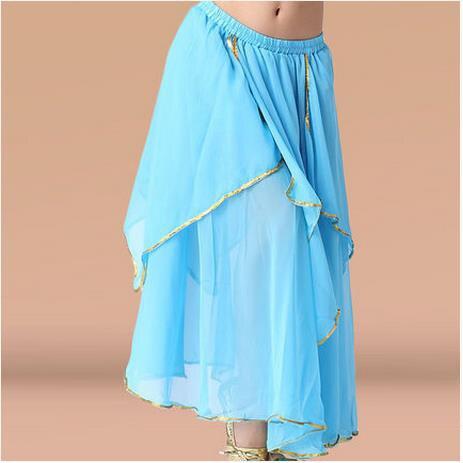 New Belly Dance Costume Waves Curling Skirt Performance Skirt//Dress 11colors