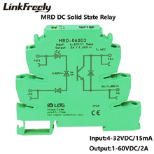 MRD-060D2 10pcs Innovative LED Indication 2A Input: 5V 12V 24VDC SSR Interface Relay Module In Single Circuit Switch Board